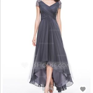 A-Line Tulle Mauve color Mother of the Bride Dress